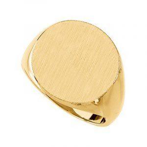10 k or jaune massif chevalière pour homme 18 mm T 1/2 haute Doré Grade que Or 9 carats de la marque JewelryWeb image 0 produit