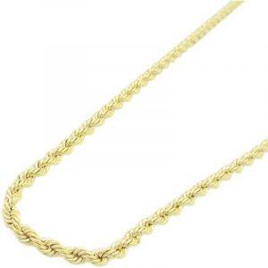 10K-gold-chain ELNC33 Chaîne torsadée fine pour homme Or jaune 10carats Longueur 50,8cm Largeur 2mm de la marque 10K-gold-chain image 0 produit
