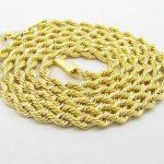 10K-gold-chain ELNC33 Chaîne torsadée fine pour homme Or jaune 10carats Longueur 50,8cm Largeur 2mm de la marque 10K-gold-chain image 1 produit