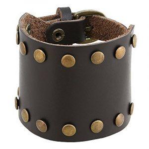 Accessoires Homme Bracelet cuir indienne main Bijoux Boyfriend cadeaux de la marque ShalinIndia image 0 produit