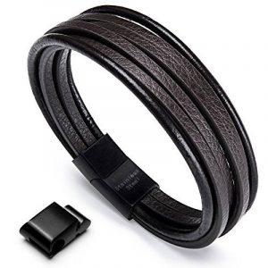 Acier inoxydable Bracelet Multi Tissé - Murtoo Homme Noir ou Marron pour Les Hommes - Avoir 1000+ Points sur Instagram de la marque MURTOO image 0 produit