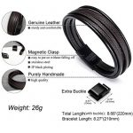 Acier inoxydable Bracelet Multi Tissé - Murtoo Homme Noir ou Marron pour Les Hommes - Avoir 1000+ Points sur Instagram de la marque MURTOO image 1 produit