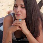Aden's Jewels - Bague-Chevalière-Argent rhodié 10Gr-Homme-Biker-Motards-Couleur Turquoise-Pierre de turquoise stabilisée de la marque Aden's Jewels image 3 produit