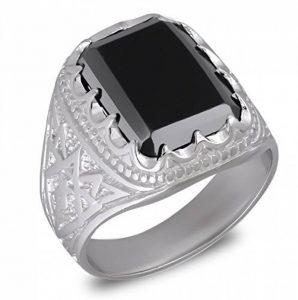 Aden's Jewels - Bague-Homme-Biker-Argent rhodié 10.3 Gr-Man-Couleur noire-Pierre d'imitation onyx de la marque Aden's Jewels image 0 produit