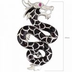 Aden's Jewels - Pendentif dragon-argent massif-nacre noire-Zirconium rouge-Femme-Homme-Noire-chaîne serpent incluse de la marque Aden's Jewels image 5 produit