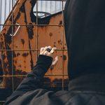 Akitsune Bague Iustitia - Anneau de conception pour les femmes et les hommes en acier inoxydable - minimaliste - Mat Noir Or de la marque Akitsune image 4 produit