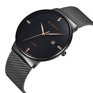 ALPS Montre Homme de Luxe Étanche Quartz Calendar Bracelet en Acier Inoxydable (Black) de la marque ALPS image 0 produit