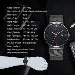 ALPS Montre Homme de Luxe Étanche Quartz Calendar Bracelet en Acier Inoxydable (Black) de la marque ALPS image 1 produit