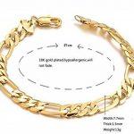 AMDXD Bijoux Bracelet Hommes Plaqué Or chaîne gourmette Lien Charme Bracelets en or 21CM de la marque AmDxD image 1 produit