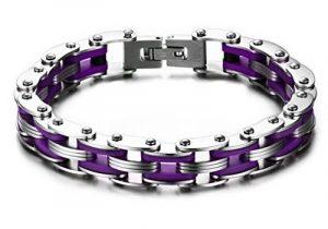 AMDXD Bijoux Pour Des Hommes Acier Inoxydable Bracelet,Chaîne De Vélos Haut Poli 210mm*10mm,3 Couleurs de la marque AmDxD image 0 produit
