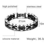 AMDXD Bijoux Pour Des Hommes Acier Inoxydable Bracelet,Chaîne De Vélos Haut Poli 210mm*10mm,3 Couleurs de la marque AmDxD image 1 produit