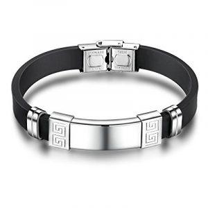 AnaZoz Bracelet Acier Inoxydable pour Homme Ajouré Clé Silicone de la marque AnazoZ image 0 produit