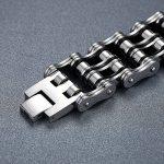 Aoiy - Bracelet Homme - Acier Inoxydable - grand et lourd - chaîne de bicyclette - couleur noir et argent - Biker Bracelet, 23cm, ccb025 de la marque Aoiy image 1 produit