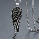Aoiy - Collier avec pendentif hommes - Acier Inoxydable - aile d'ange - chaîne 61cm, ddp012 de la marque Aoiy image 1 produit