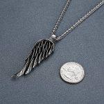 Aoiy - Collier avec pendentif hommes - Acier Inoxydable - aile d'ange - chaîne 61cm, ddp012 de la marque Aoiy image 2 produit