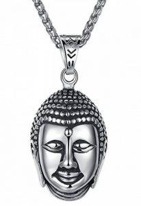Aoiy - Collier avec pendentif hommes - Acier Inoxydable - Bouddha - chaîne 61cm - aap081 de la marque Aoiy image 0 produit