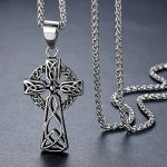 Aoiy - Collier avec pendentif hommes - Acier Inoxydable - celte filigrane Croix, noeud irlandais, chaîne 61cm, aap136 de la marque Aoiy image 1 produit