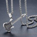 Aoiy - Collier avec pendentif hommes - Acier Inoxydable - Guitare, couleur noire et argentée, chaîne 61cm, ddp054he de la marque Aoiy image 1 produit