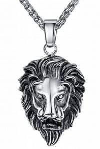 Aoiy - Collier avec pendentif hommes - Acier Inoxydable - Lion - chaîne 61cm - aap053 de la marque Aoiy image 0 produit