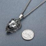 Aoiy - Collier avec pendentif hommes - Acier Inoxydable - Lion - chaîne 61cm - aap053 de la marque Aoiy image 2 produit