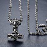 Aoiy - Collier avec pendentif hommes - Acier Inoxydable - marteau de thor de Viking, noeud celtique, chaîne 61cm, aap169 de la marque Aoiy image 1 produit