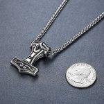 Aoiy - Collier avec pendentif hommes - Acier Inoxydable - marteau de thor de Viking, noeud celtique, chaîne 61cm, aap169 de la marque Aoiy image 2 produit