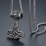 Aoiy - Collier avec pendentif hommes - Acier Inoxydable - marteau de thor de Viking, noeud celtique, chaîne 61cm, aap171 de la marque Aoiy image 1 produit