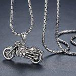 Aoiy - Collier avec pendentif hommes - Acier Inoxydable - moto - chaîne 58cm - hhp019 de la marque Aoiy image 1 produit