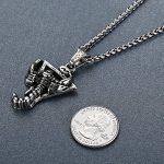 Aoiy - Collier avec pendentif hommes - Acier Inoxydable - Scorpion - chaîne 61cm - aap044 de la marque Aoiy image 2 produit