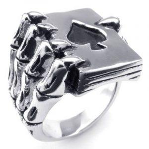 Aooaz Bijoux Bague pour Homme Argent Noir Ton Griffe du Dragon Acier Inoxydable de la marque Aooaz image 0 produit