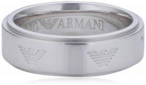 Armani - EG3030040-6,5 - Bague Mixte - Acier Inoxydable - T 53 (16.9) de la marque Emporio Armani image 0 produit