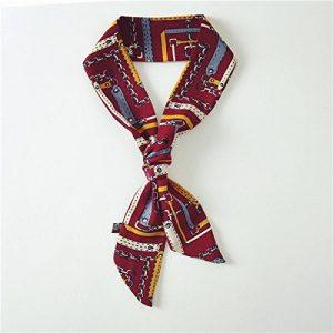 Au printemps et en automne en coréen silk foulard noué Joker paquet emballé en charge de petits foulards foulard ruban echarpes femmes 50*90cm,boutons de manchette rouge de la marque image 0 produit