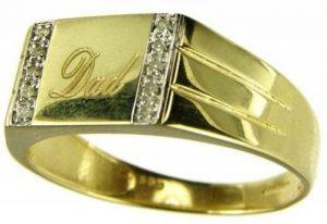 Bague - 884D/P - Homme - Or jaune (9 carats) 3 Gr - Diamant de la marque Kareco image 0 produit