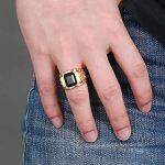 Bague Acier Inoxydable Faux Diamant Or Plaqué Dragon Acier Inoxydable Moderne Pour Homme de la marque Guirui Jewelry image 6 produit