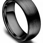 Bague Céramique Noir Finition Mat Interieur Confort Hommes Femmes Anneau de Mariage Fiançaille Alliance de la marque Titaniumcentral image 1 produit