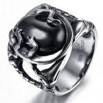Bague homme avec pierre noire - trouver les meilleurs produits TOP 1 image 2 produit