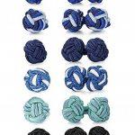 BESTEEL 6 Paires Vintage Boutons de Manchette Noeud en Soie pour Femme Homme Chemise de la marque BE STEEL image 3 produit