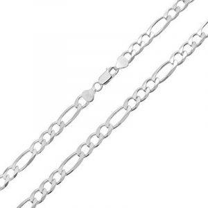 Bling Jewelry Sterling Silver Mens Collier Chaîne Figaro jauge 150 Italie de la marque Bling Jewelry image 0 produit