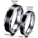BOBIJOO Jewelry - Alliance Bague Anneau Acier Inoxydable Titane Noir Mariage Fiançaille Couple Au choix de la marque BOBIJOO Jewelry image 2 produit