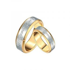 BOBIJOO Jewelry - Alliance Bague Doré à Or Fin Acier Inoxydable Mariage Forever Love Homme Femme de la marque BOBIJOO Jewelry image 0 produit
