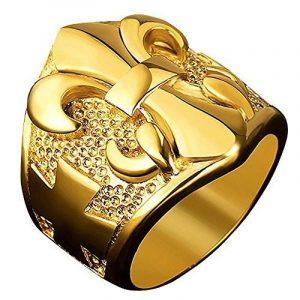 BOBIJOO Jewelry - Bague Chevalière Fleur de Lys Lis Doré Or Croix Malte Templier Acier Inoxydable de la marque BOBIJOO Jewelry image 0 produit