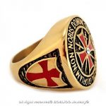 BOBIJOO Jewelry - Chevalière Bague Anneau Devise Chevalier Templier Tout Or Fin Doré Croix Rouge de la marque BOBIJOO Jewelry image 3 produit