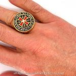 BOBIJOO Jewelry - Chevalière Bague Anneau Devise Chevalier Templier Tout Or Fin Doré Croix Rouge de la marque BOBIJOO Jewelry image 5 produit