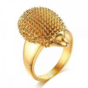 BOBIJOO Jewelry - Chevalière Bague Hérisson Niglo Acier Inoxydable Doré Or Fin Mixte Homme Femme de la marque BOBIJOO Jewelry image 0 produit