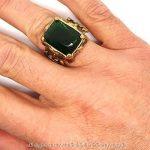 BOBIJOO Jewelry - Grosse Chevalière Bague Homme Doré Or Fin Royalisme Fleur de Lys Strass Vert Roi de la marque BOBIJOO Jewelry image 3 produit
