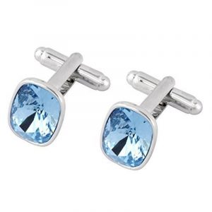 Boutons de manchette avec cristaux Swarovski fini or 18carats de la marque Galaxy Jewellery image 0 produit