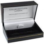 Boutons de Manchette - GRANDE QUALITÉ - Nœud - Laiton - Un Design Classique - Petit Diamètre de 12mm - Couleur Argent - Avec Boîte-Cadeau de la marque COLLAR AND CUFFS LONDON image 1 produit