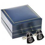 Boutons de manchette masque de Dark Vador– Accessoires fantaisie Star Wars dans une boîte spéciale en velours de la marque Beaux Bijoux image 4 produit