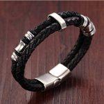 Bracelet acier et cuir homme ; comment acheter les meilleurs en france TOP 1 image 2 produit