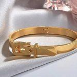 Bracelet Bijoux Jonc en forme de Ceinture largeur de 9 mm, Plaqué Or Jaune Brossé, taille réglable de la marque Splendeur d'Art® image 3 produit